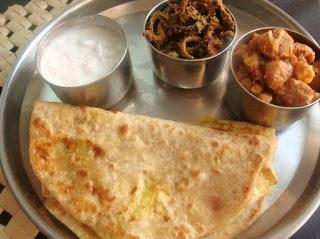 aloo paratha,mealmaker curry