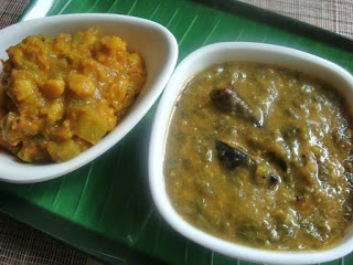 Keerai Thandu kootu and Keerai Masiyal