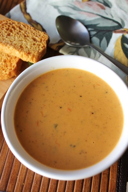 african peanut soup, peanut butter soup, bell pepper soup