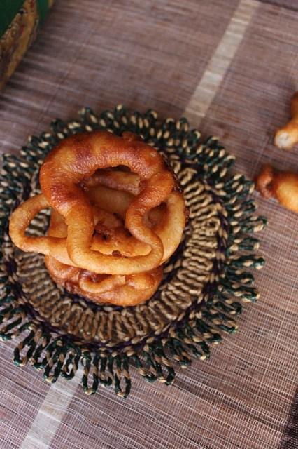 sel roti, deep fried batter rings,sikkim special sel roti