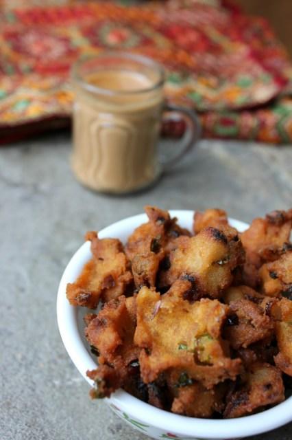 rice pakora,rice flour pakora,easy pakora,pakora snack