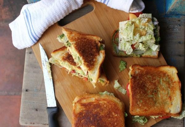 paneer cheese vegetable sandwich