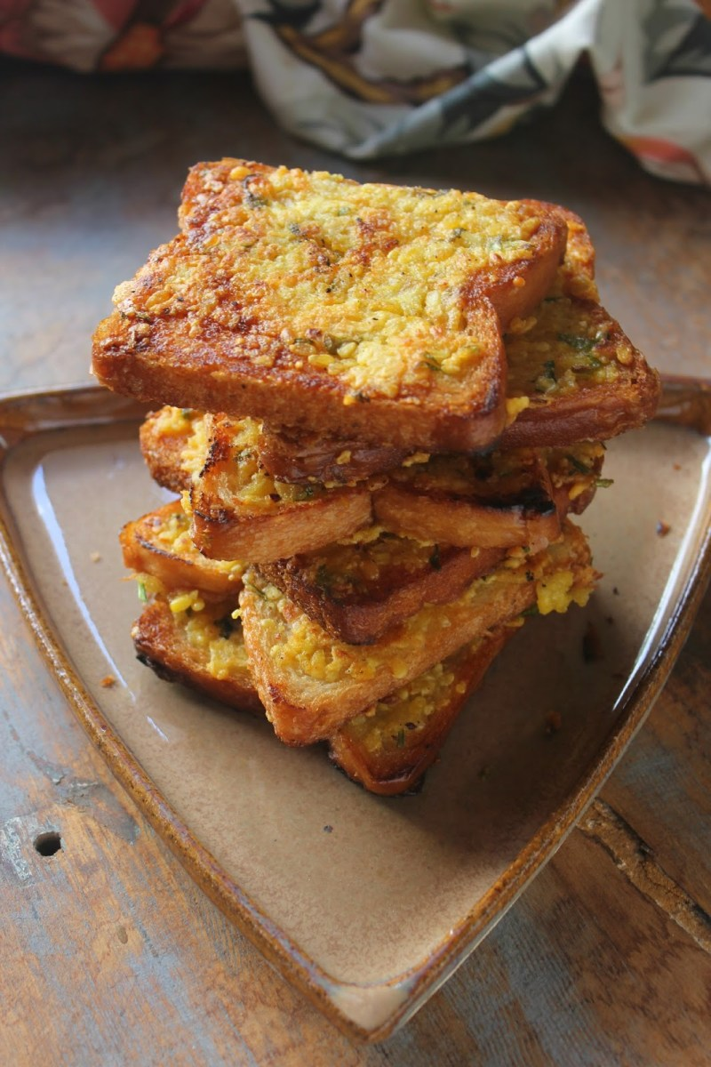 Fried Moong dal Toast