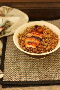 Honey mustard grilled chicken & bamboo fried rice