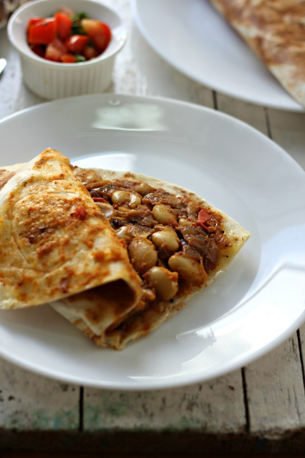 Easy, delicious and filling mocha kottai quesadilla