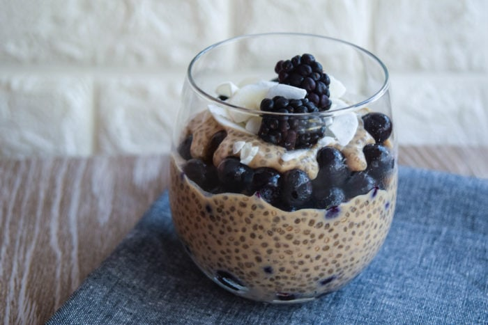 Creamy Vanilla Coconut Chia Pudding and Berry Parfait