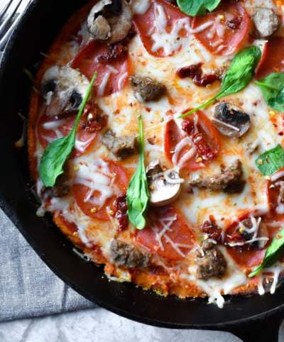 Grain-Free Sweet Potato Pizza Bake