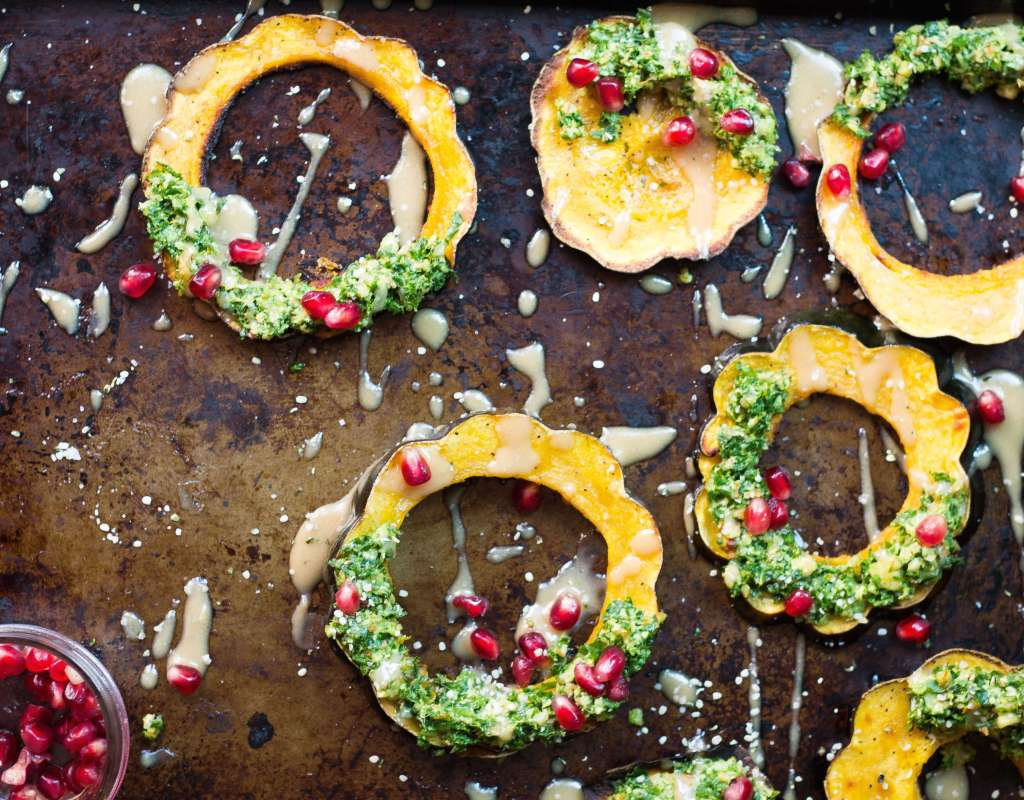 Winter Squash Wreaths (Vegan & Gluten-free)