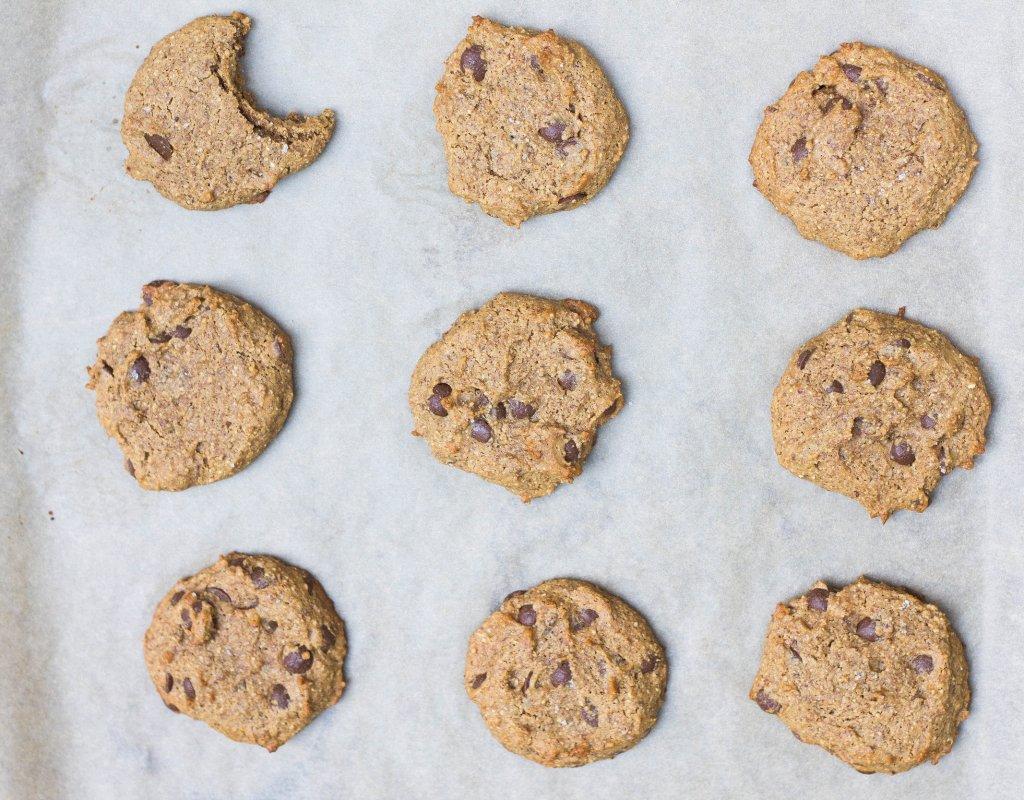 Ginger Carob Chip Cookies (Paleo, Vegan)