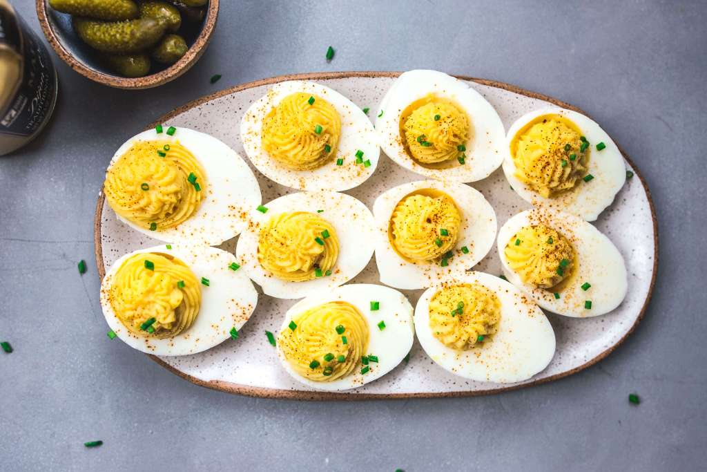 deviled eggs via Food by Mars