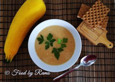 Supă cremă de dovlecel cu sfeclă roşie