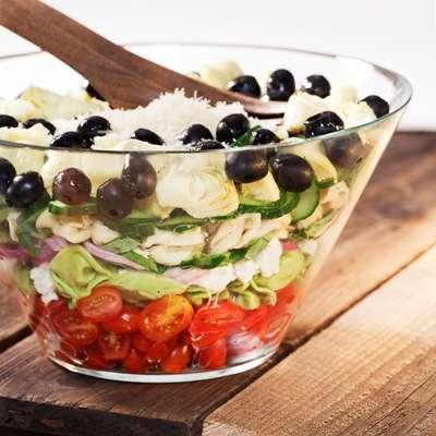Layered Mediterranean Tortellini Salad Recipe1