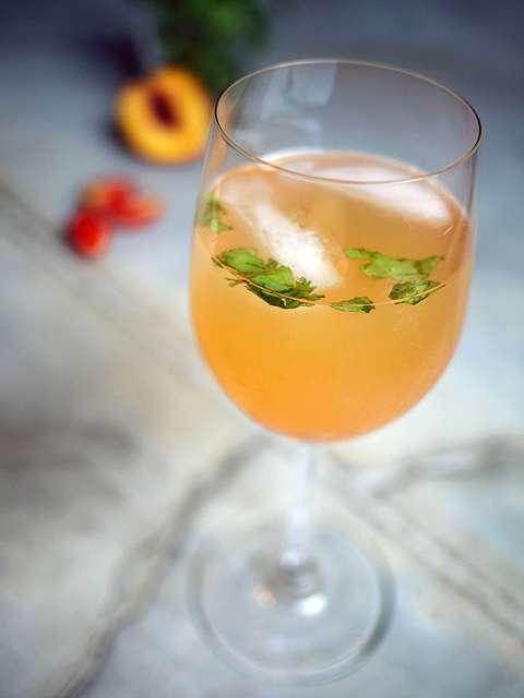 White Wine Peachy Bloody Mary