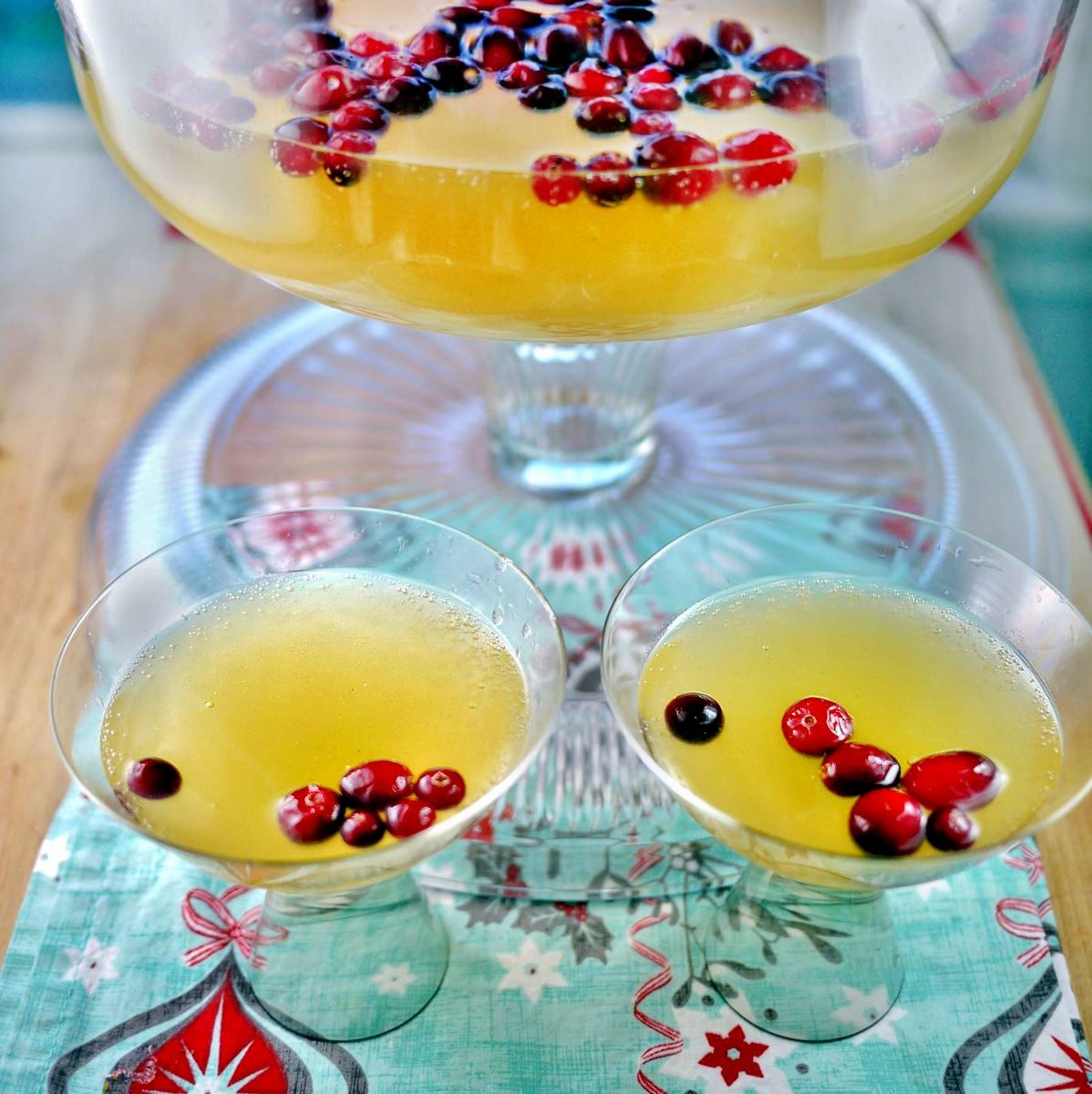 Sparkling Holiday Champagne Punch