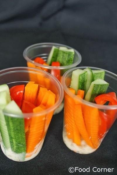 Veggie Cups with Mustard Dip  Food Corner