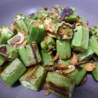Sautéed Okra with Garlic