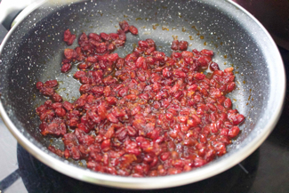 14- Stir on medium heat till sugar dissolve