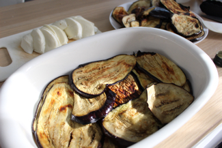 grilled eggplants in casserole