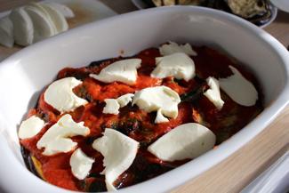 add a layer of mozzarella