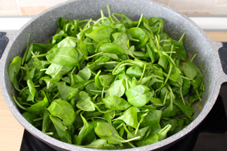add the baby spinach