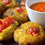 Italian rice balls with Pachino tomatoes