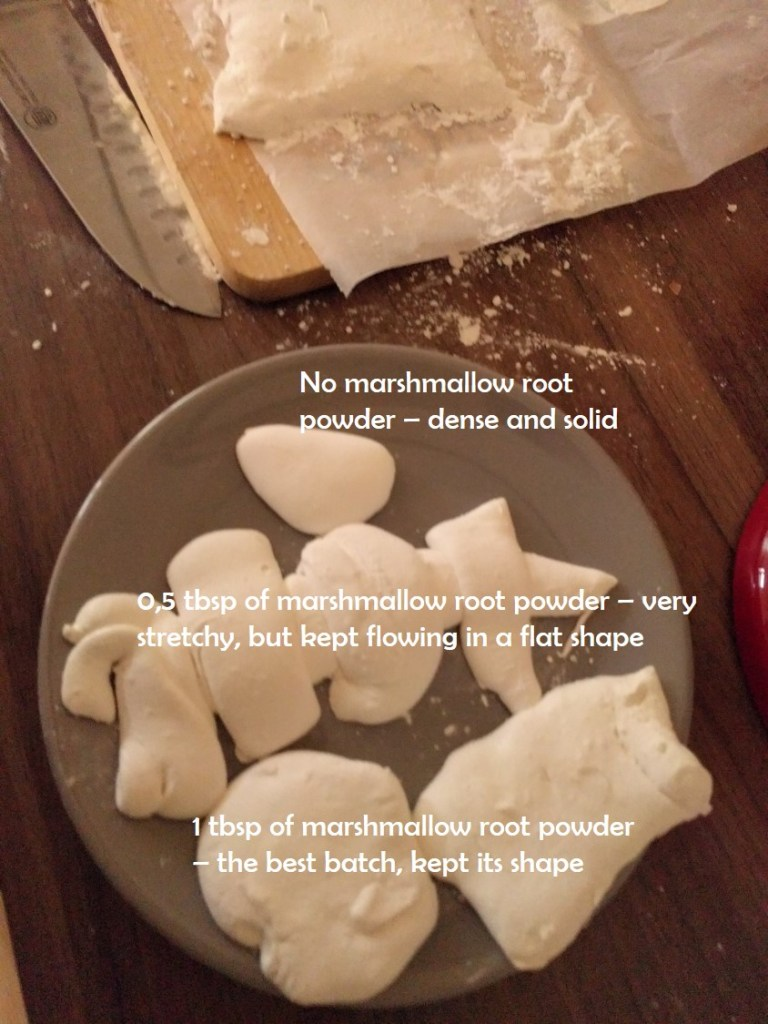 cutting marshmallow root marshmallows