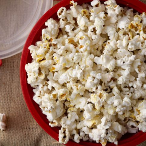 how to store popped popcorn long term