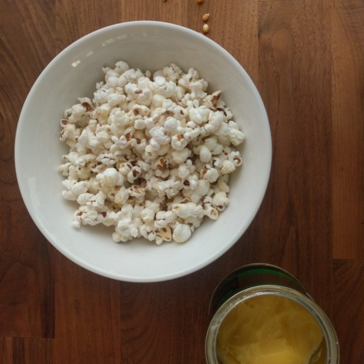 popcorn and ghee