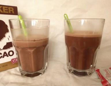 sedimentation experiment chocolate milk 10 min