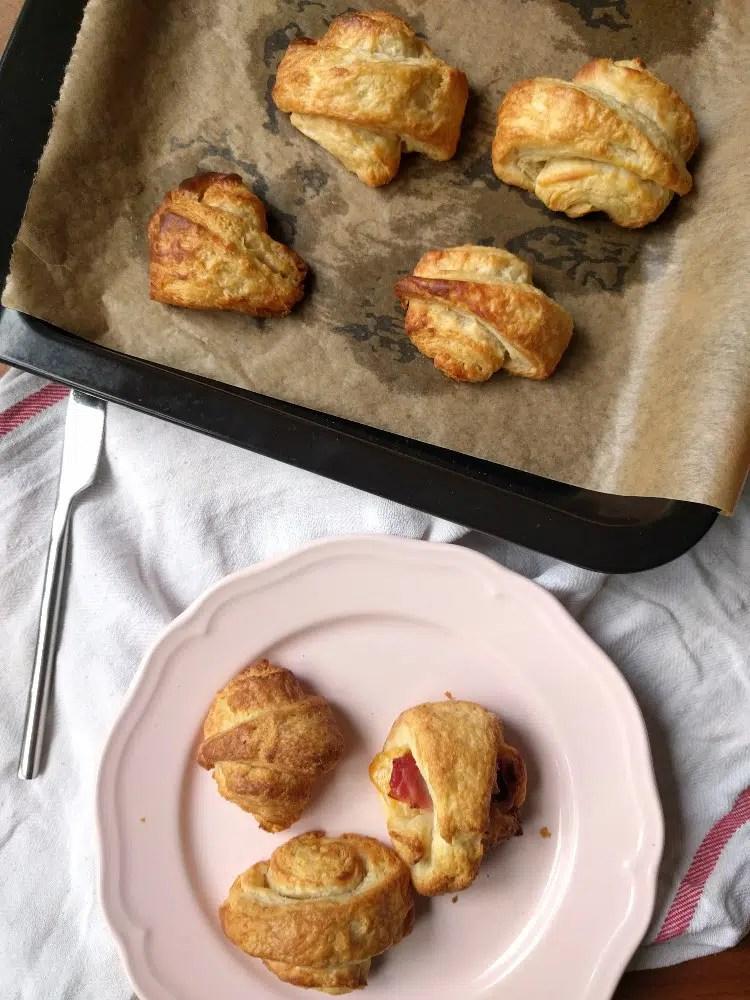 freshly baked mini croissants
