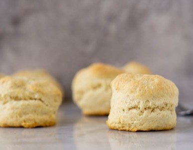 frontal view of biscuits
