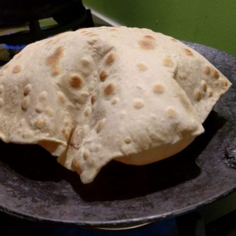 blown up chapati