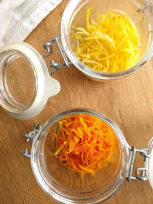 orange and lemon zest