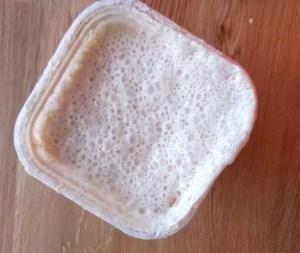 bubbling sourdough starter