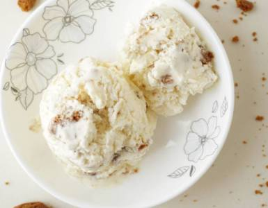 Bastognekoeken ice cream with just 3 ingredients
