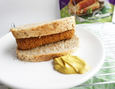 sandwich with a oven baked kroket and a little mustard