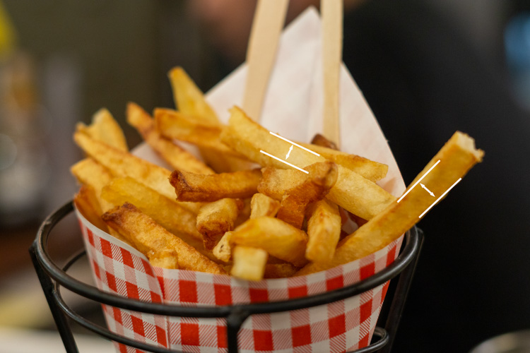 fresh fries with shortest dimension