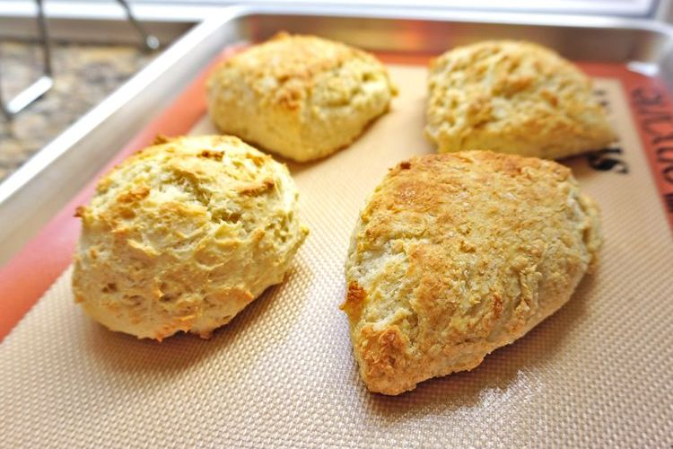 light fluffy crumbly scones
