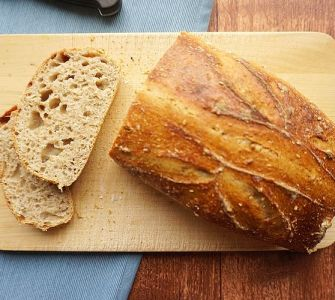 seeded sourdough bread slices