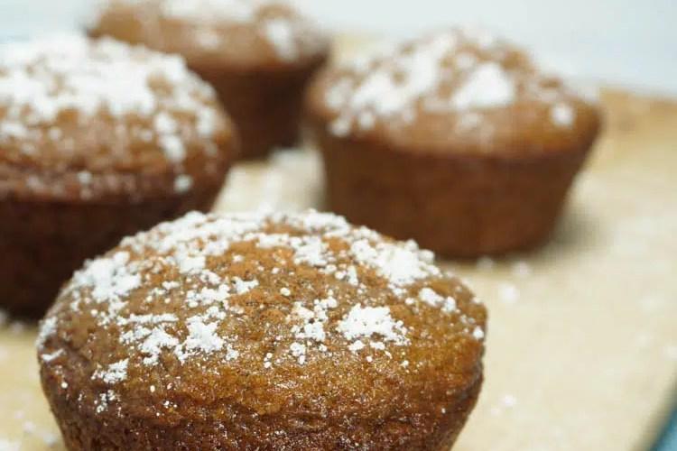 apple cider muffins close up