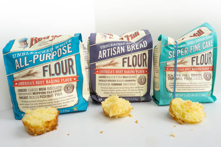 testing different flours for making cake