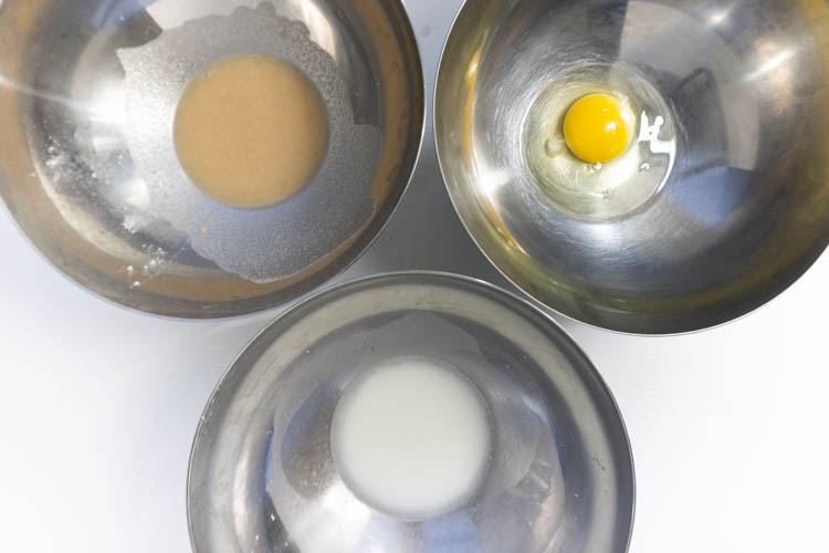 top view of egg replacers