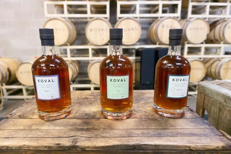 3 single grain whiskies