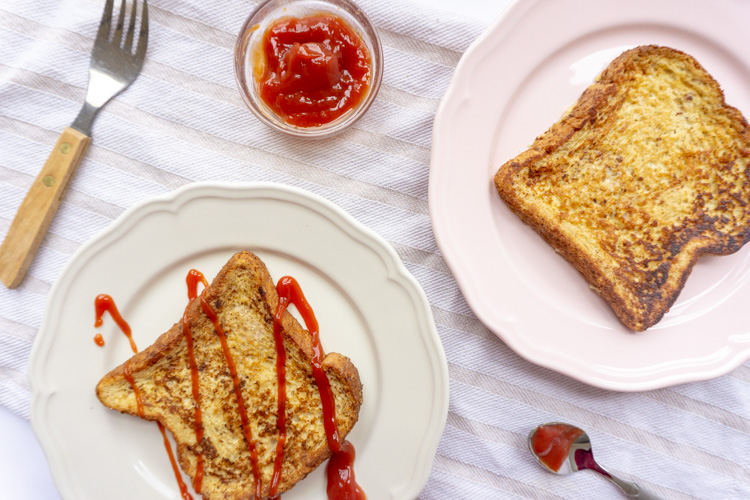 french toast with ketchup