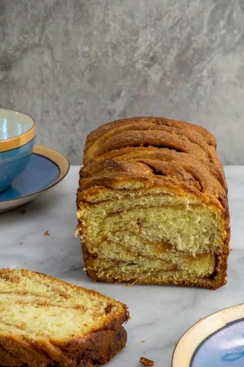 loaf of cinnamon babka