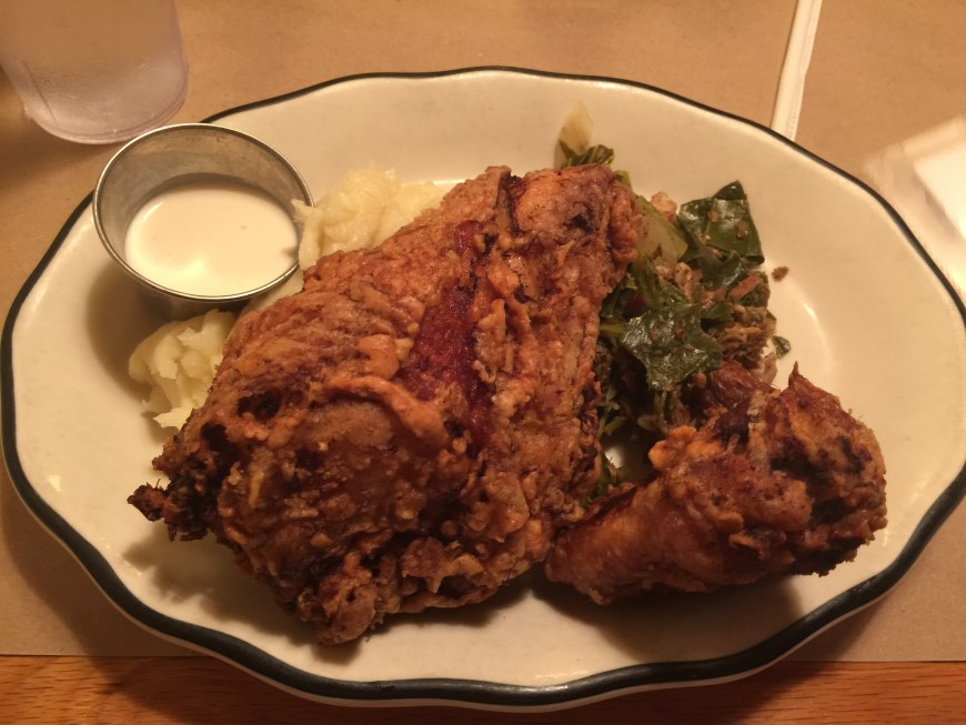 Fried Chicken Dinner at The  Glass Onion