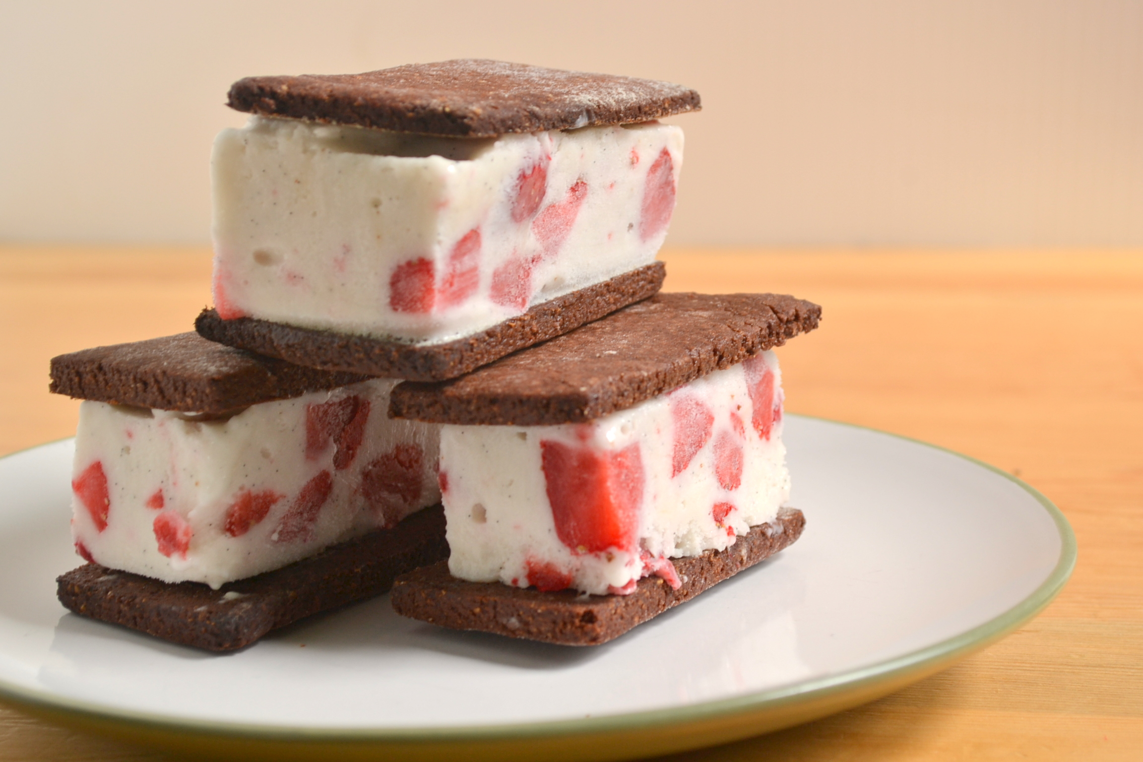 Triple-Chocolate Cookie And Strawberry Ice Cream ...