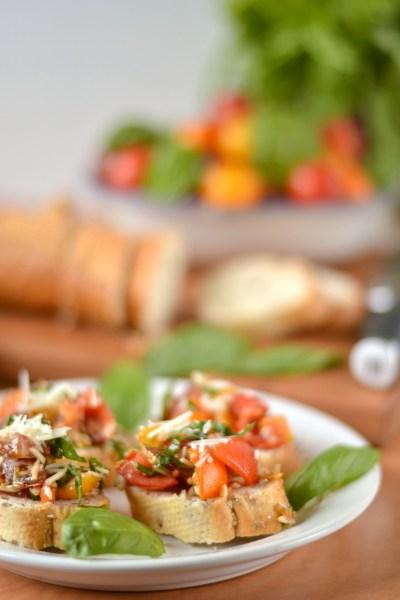 Cherry Tomato Bruschetta with Parmesan Image
