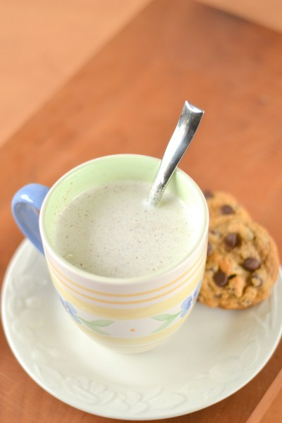 Vanilla Nutmeg Almond Milk Steamer with Protein Image