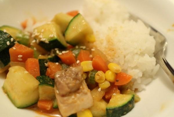 Chicken Satay Stir-Fry